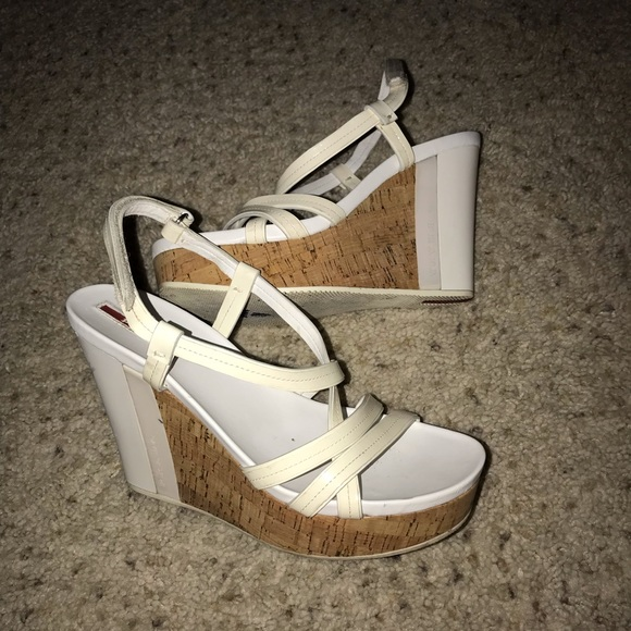 Prada Shoes - Strappy Prada Wedges